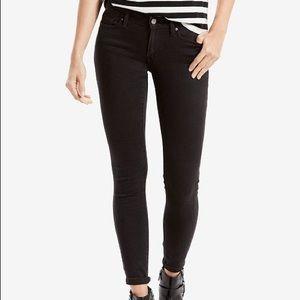Levi's 711 Black Skinny Jeans